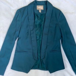 Forever 21 Green / turquoise open blazer small